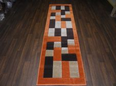 Modern Runners 60x220cm Aprox 8ft Hand Carved Super Quality Blocks Terra/Browns